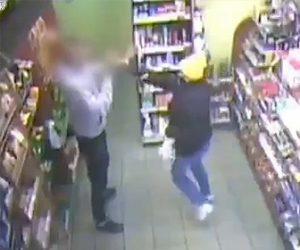 【強盗】銃を持った女強盗が店から金を奪い逃走しようとするが…