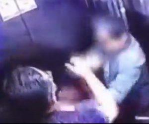 【暴行】エレベーター内でおじいさんに詰め寄り暴行する男がヤバい