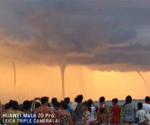 【竜巻】フィリピンの湖で撮影された4つの竜巻が凄い!【衝撃映像】