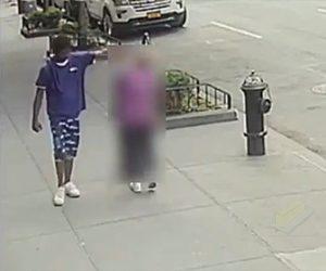 【暴行】黒人男が通りすがりのおばあさん(92歳)を殴り、おばあさんは転倒してしまう