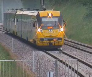 【動物】線路を歩く犬に後ろから電車が迫ってくる衝撃映像
