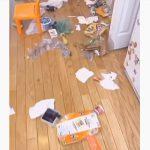 【衝撃】家のゴミ箱をひっくり返し部屋をゴミだらけにした犯人の表情が…