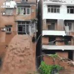 【災害】中国で80年以来最大の洪水が発生。濁流が建物2階から流れ出す衝撃映像