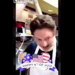 【衝撃】従業員がパン生地を首に巻きふざけている映像をSNSに投稿し解雇される