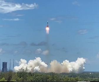 【衝撃】中国初の火星探査機「天問1号」打ち上げ映像