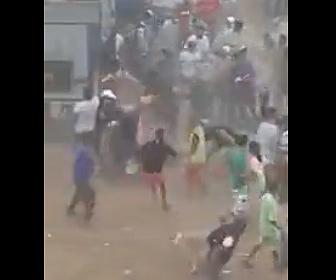 【衝撃】モロッコの市場が大勢に襲撃され、ヒツジを強奪される衝撃映像