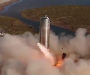 【衝撃】SpaceXがStarshipのホップ飛行と着陸動画を公開