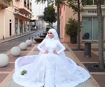 【衝撃】ベイルートで大爆発。結婚式の撮影中、花嫁が爆風に襲われる衝撃映像