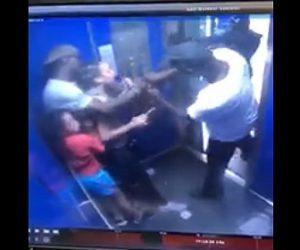 【衝撃】エレベーターに銃を持った強盗が現れ、家族3人の形態や財布を奪っていく衝撃映像
