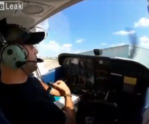 【衝撃】着陸したセスナ機が建物に突っ込んでしまう衝撃映像