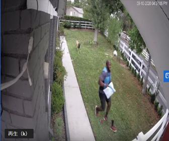 【衝撃】Amazon配達員が番犬に追いかけられ、柵を飛び越え必死に逃げる衝撃映像