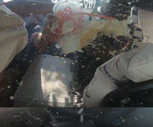 【事故】ピックアップトラックがクラッシュしエアバッグが出る高画質車内映像が凄い