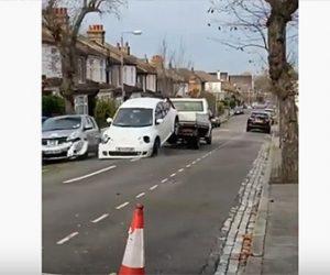 【衝撃】レッカー車が車を牽引するが…衝撃映像