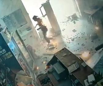 【閲覧注意】中国のレストランが突然爆発し炎上。火だるまで逃げる衝撃映像