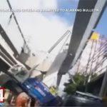 【事故】大型クレーンが倒れ、高架橋脚が落下してしまう衝撃映像