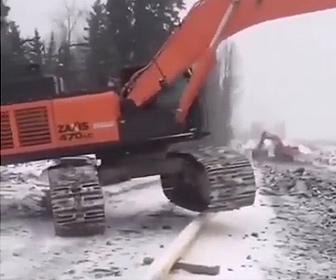 【衝撃】ショベルカーの運転技術が凄い衝撃映像