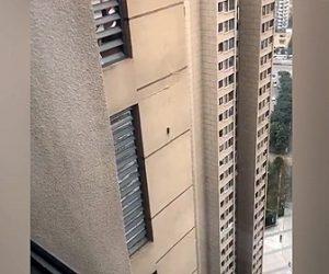 【衝撃】30階建てビルの外壁をネズミが登っていく衝撃映像