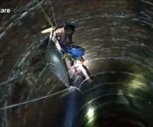 【衝撃】夫と喧嘩し井戸に飛び込んだ女性を警察官が救出しようするが…