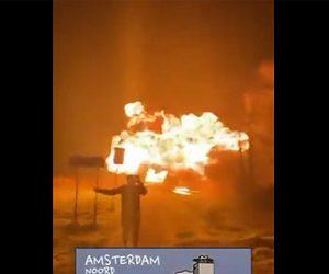 【衝撃】オランダで夜間外出禁止に怒り橋を爆破する衝撃映像