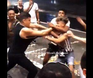 【乱闘】男2人の言い争いから大乱闘になる衝撃映像