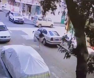 【衝撃】街路樹が突然倒れ、道を歩く女性が必死逃げる衝撃映像