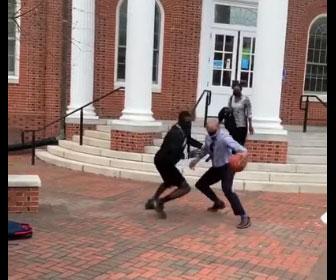 【衝撃】大学学長のバスケットスキルが凄すぎる