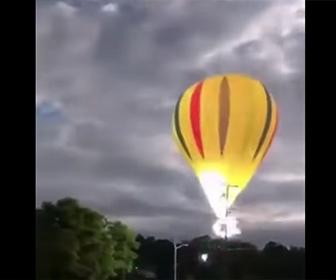 【衝撃】気球が電線に激突し乗っていた家族が死亡してしまう衝撃映像