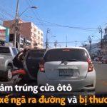 【事故】停車している車のドアが開きバイクが激突してしまう