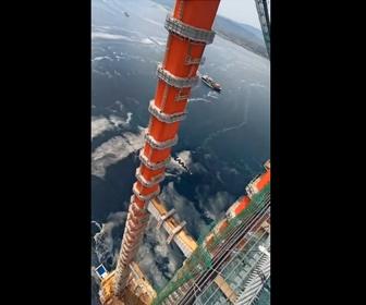 【高所】チャナッカレ1915橋、高さ318mからの映像が凄い
