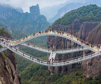 【動画】美しいけど怖すぎる。中国、浙江省に登場した橋「如意橋」が凄い