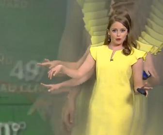 【面白】お天気お姉さんが増える天気予報生放送中の放送事故