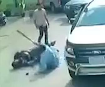 【動画】道の譲り合いで口論になり、相手の運転手にバットで襲いかかる衝撃映像