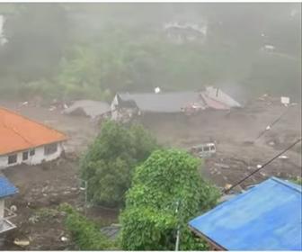 【動画】熱海市で大規模など土砂崩れ。20人が安否不明