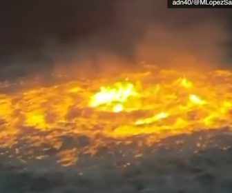 【動画】メキシコ湾の海中パイプライン炎上映像が凄い