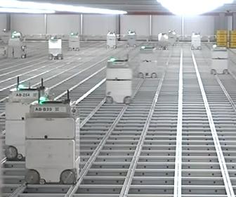 【動画】数千機のロボットが動く食料品倉庫が凄い