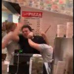 【動画】客VS店員 ニューヨークのピザ店で客と店員が大乱闘になってしまう