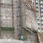 【動画】台風の強風で高層マンションの足場が崩落してしまう衝撃映像